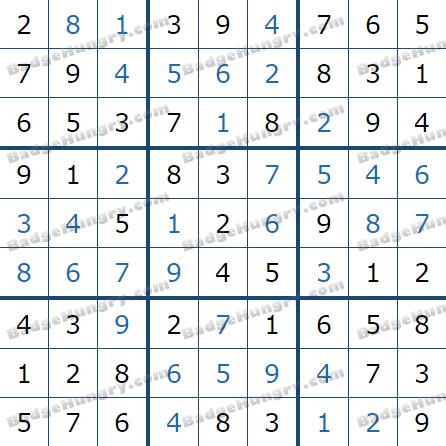 Pogo Daily Sudoku Solutions: May 28, 2021