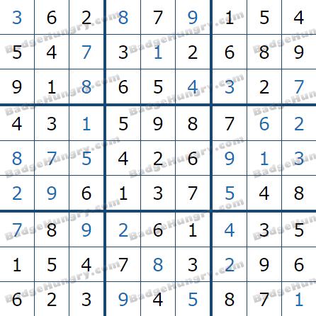 Pogo Daily Sudoku Solutions: June 1, 2021