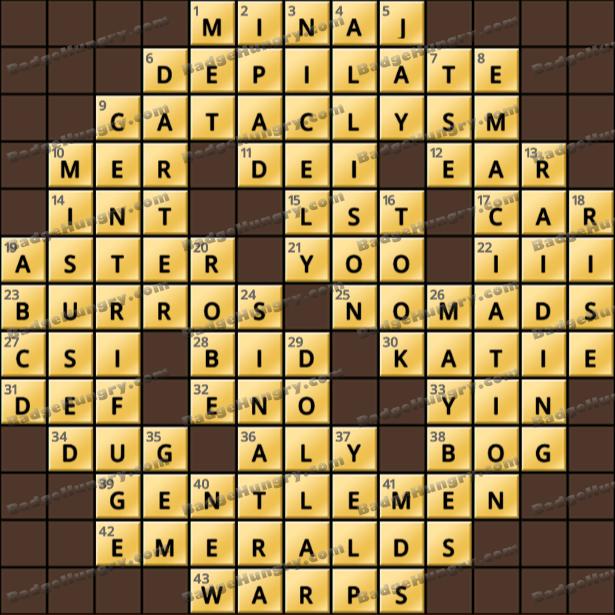 Crossword Cove HD Solution: June 1, 2021