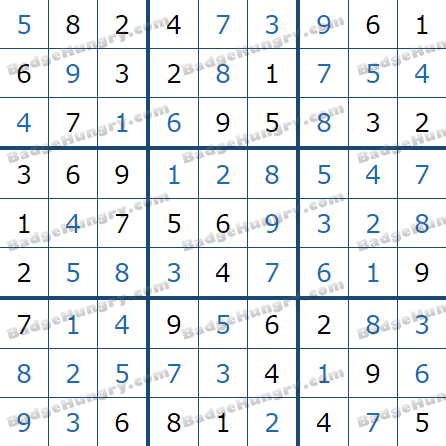 Pogo Daily Sudoku Solutions: June 2, 2021