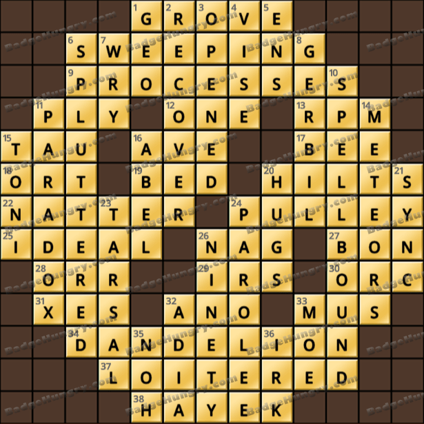 Crossword Cove HD Solution: June 2, 2021