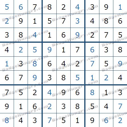 Pogo Daily Sudoku Solutions: June 3, 2021