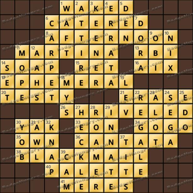 Crossword Cove HD Solution: June 3, 2021