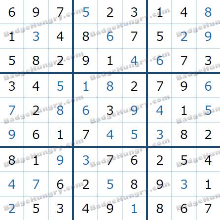 Pogo Daily Sudoku Solutions: June 7, 2021