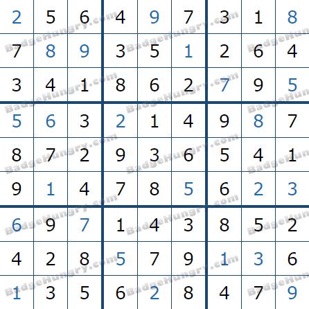 Pogo Daily Sudoku Solutions: June 8, 2021