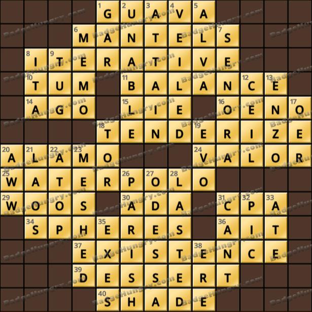 Crossword Cove HD Solution: June 8, 2021
