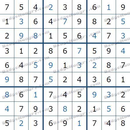 Pogo Daily Sudoku Solutions: June 19, 2021