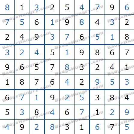 Pogo Daily Sudoku Solutions: June 23, 2021