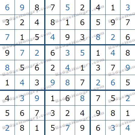Pogo Daily Sudoku Solutions: June 25, 2021