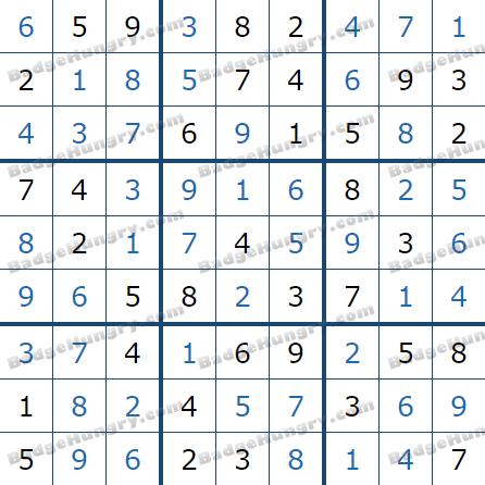 Pogo Daily Sudoku Solutions: July 1, 2021
