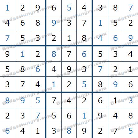 Pogo Daily Sudoku Solutions: July 2, 2021