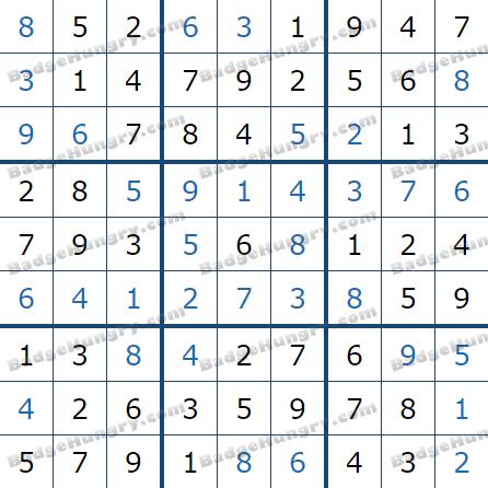 Pogo Daily Sudoku Solutions: July 3, 2021
