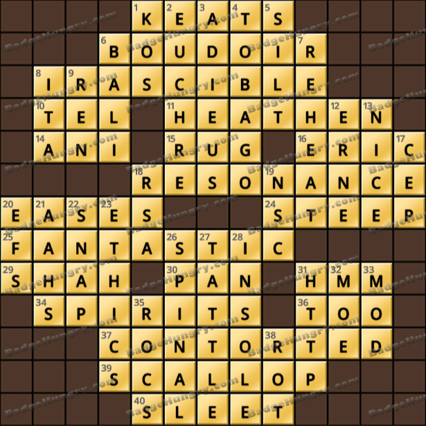 Crossword Cove HD Solution: July 11, 2021
