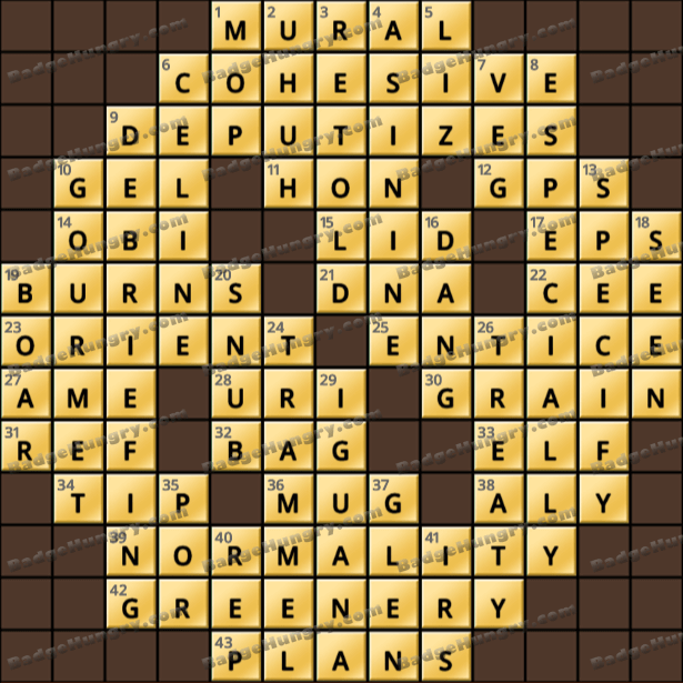 Crossword Cove HD Solution: July 12, 2021
