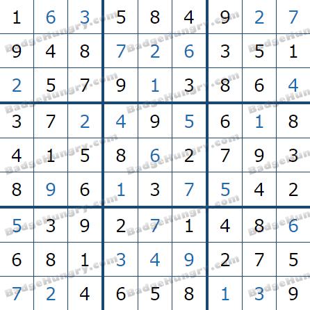 Pogo Daily Sudoku Solutions: July 16, 2021