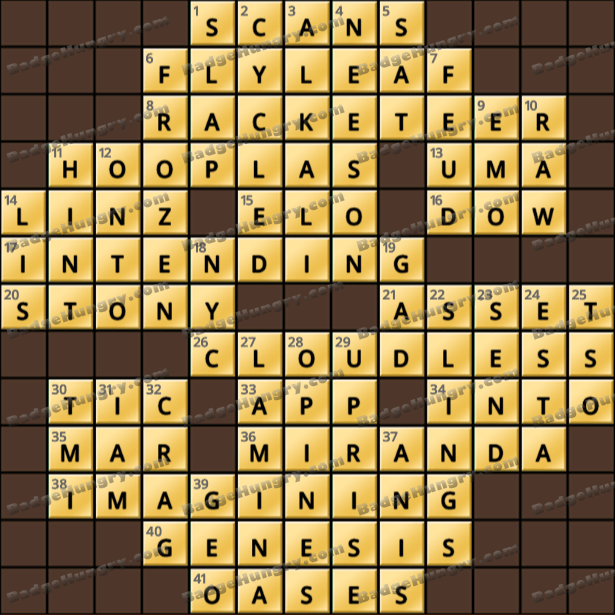 Crossword Cove HD Solution: July 18, 2021