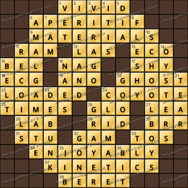 Crossword Cove HD Solution: July 19, 2021