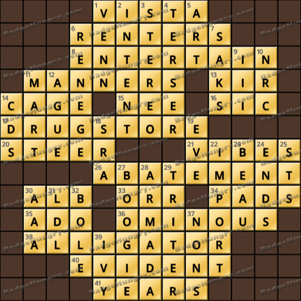 Crossword Cove HD Solution: July 20, 2021