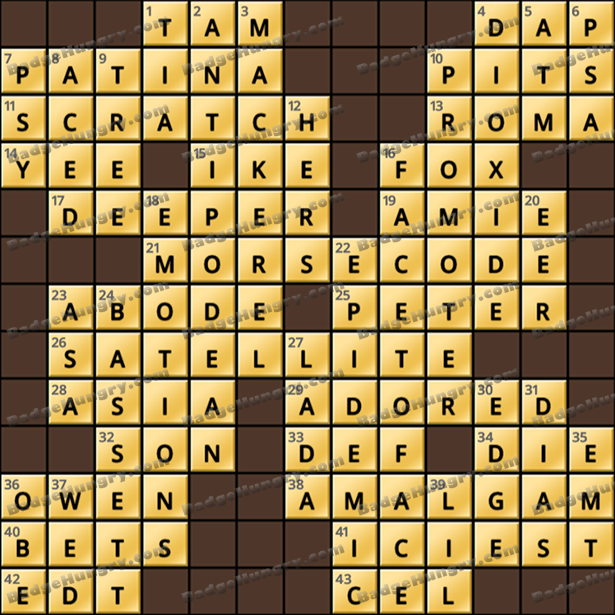 Crossword Cove HD Solution: July 24, 2021