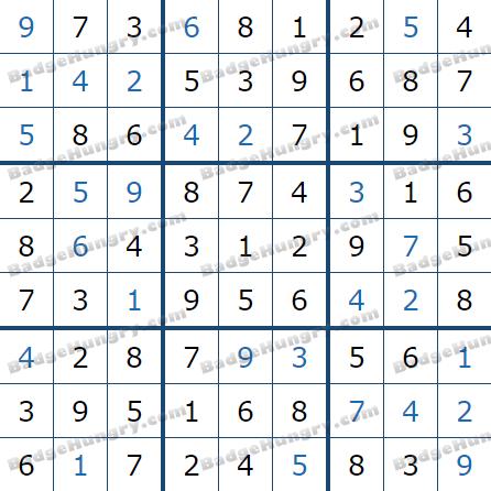 Pogo Daily Sudoku Solutions: July 26, 2021