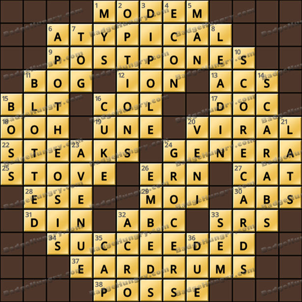 Crossword Cove HD Solution: July 26, 2021