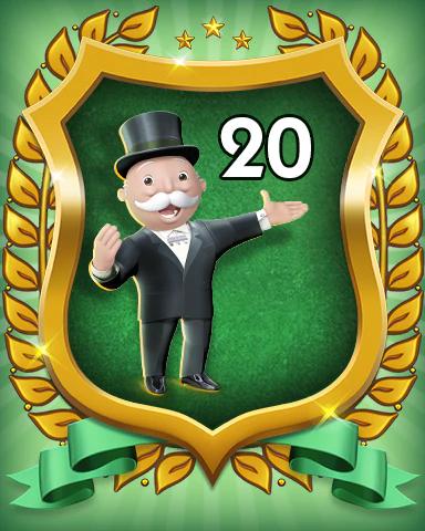 MONOPOLY Sudoku Rank 20 Badge