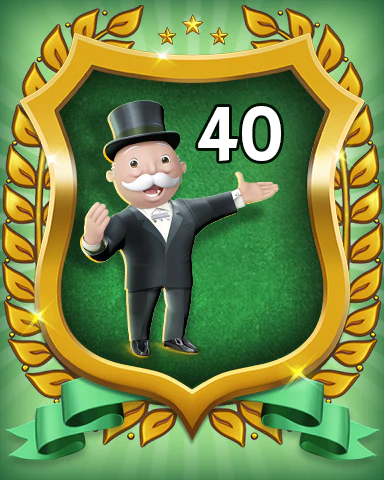MONOPOLY Sudoku Rank 40 Badge