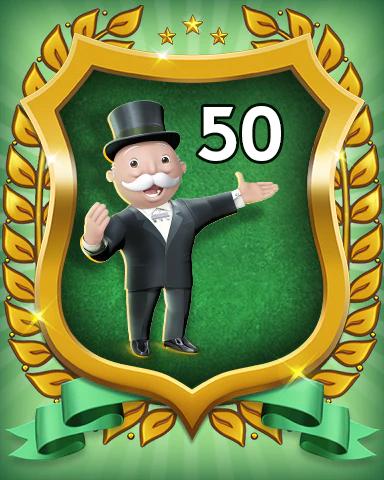 MONOPOLY Sudoku Rank 50 Badge