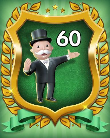MONOPOLY Sudoku Rank 60 Badge