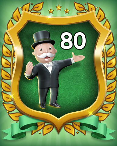 MONOPOLY Sudoku Rank 80 Badge