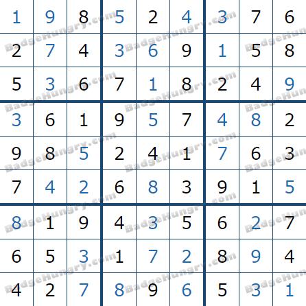 Pogo Daily Sudoku Solutions: September 13, 2021