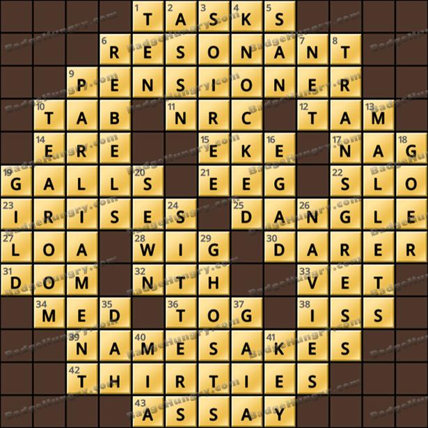 Crossword Cove HD Solution: September 13, 2021