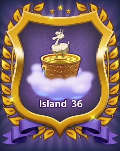 Bejeweled Stars Island 36 Badge