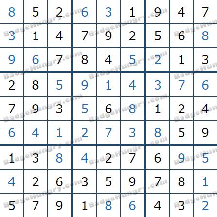 Pogo Daily Sudoku Solutions: October 11, 2021