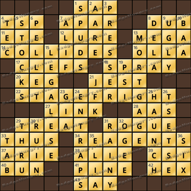 Crossword Cove HD Solution: October 13, 2021